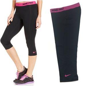 Nike Pro Black and Pink Capri leggings size M